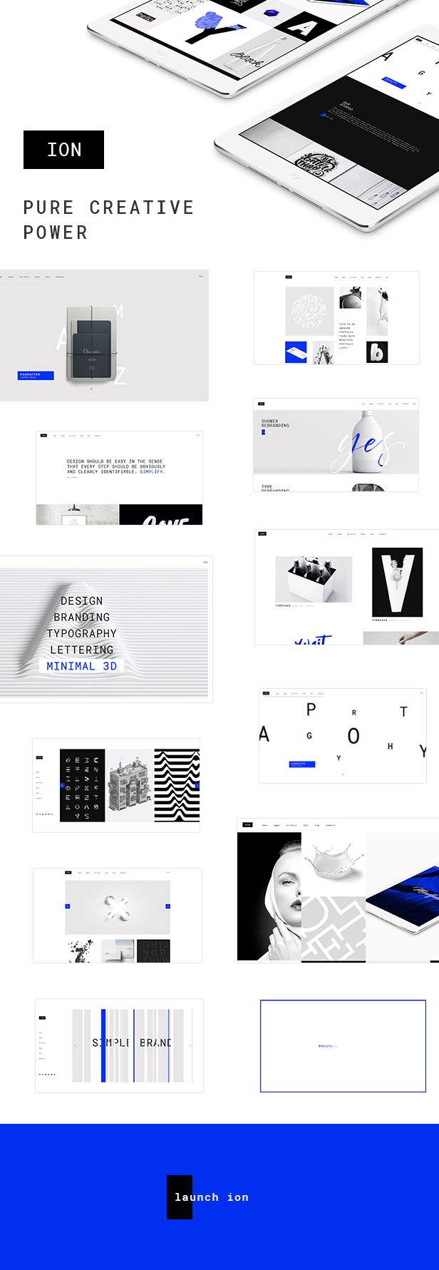 Ion - Creative Portfolio Theme - 1